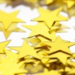 Stars gold confetti — Stock Video