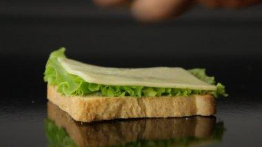 Preparing sandwich — Stock Video