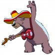 Bear in hat playing guitar. — Stock Photo #5766372