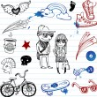 Hipsters doodles — Stock Vector