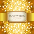 Golden invitation — Stock Vector
