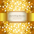 Stock Vector: Golden invitation