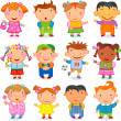 Kids different nations — Stock Vector