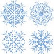Set of snowflakes — Stockvectorbeeld