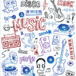 Sketchy music illustrations — Stock Vector