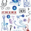 Sketchy Music Icons — Stock Vector