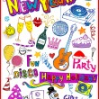 New Year Doodles — Stock Vector