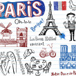 Symbols of Paris — Stock Vector #32826989