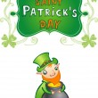 St.Patrick's day greeting card — Imagen vectorial