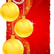 Christmas gold balls — Stock Vector