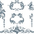 Decorative elements, rococo style — Stock Vector