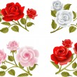 Rose buttonholes — Stockvektor