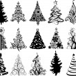 Modern christmas trees — Vector de stock