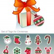 Stock Vector: Christmas tags