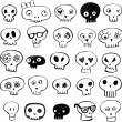 Skulls doodles — Stock Vector #32828309