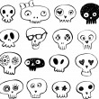 Skulls doodles — Stock Vector #32828327
