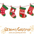 Christmas stockings, greeting card — Stock Vector #32828503