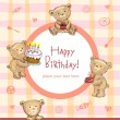 Sweet Birthday greetings — Vector de stock