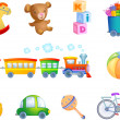 Toys for kid — Stock Vector