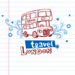 London Red bus — Stock Vector