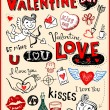 Valentine doodles set — Stock Vector #32829411