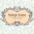 Stock Vector: Vintage decorative frame
