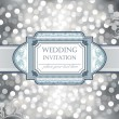 Wedding invitation or greeting card — Stock Vector
