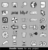 Doodled vector icons — Stock Vector