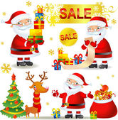 Christmas SALE with Santa — Stock Vector
