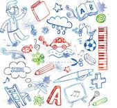 School doodles — Stockvector