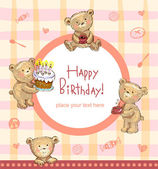 Sweet Birthday greetings — Stock Vector