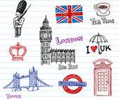 London Doodles — Stock Vector