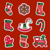 Christmas tags or stickers — Stock Vector