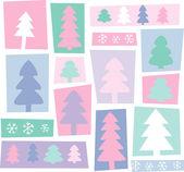 New Year trees — Stock Vector