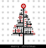 Christmas greeting card, — Stock Vector