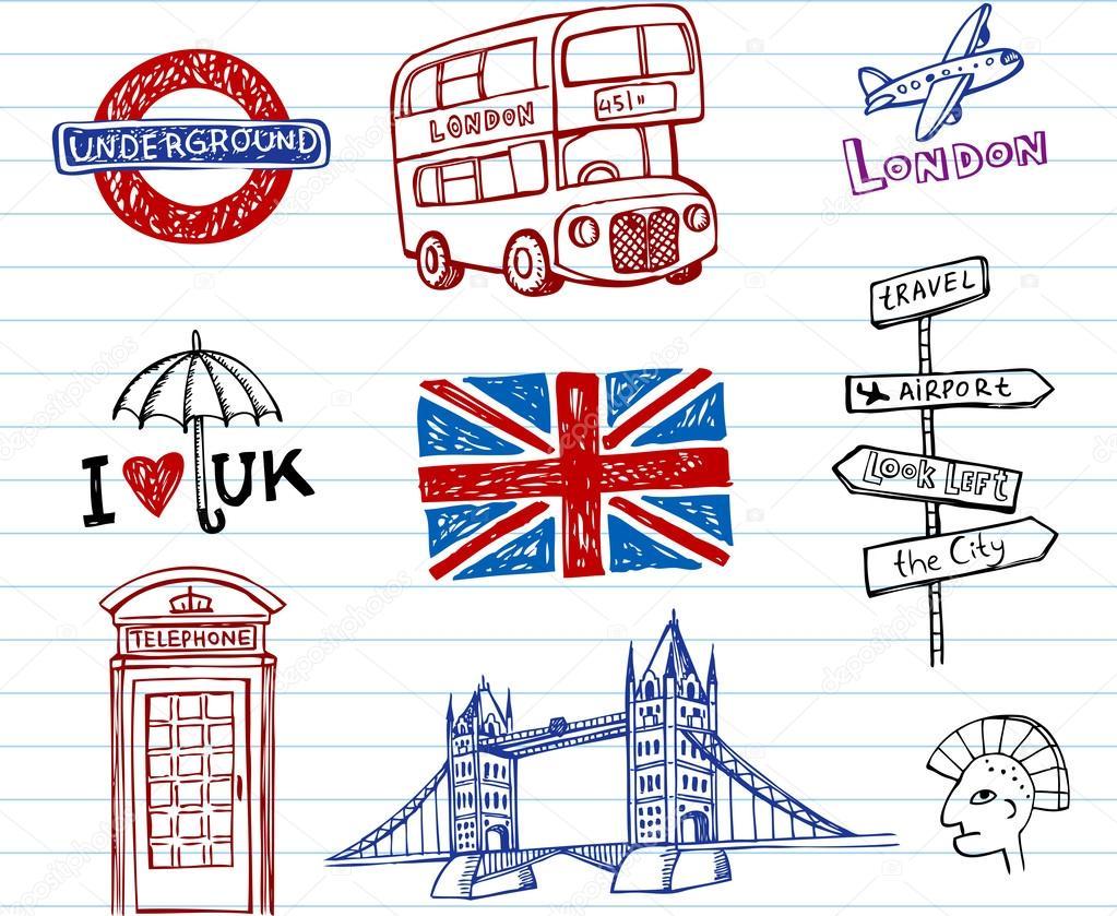 Легкие рисунки с лондоном
