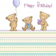 Birthday greetings from cute bears — Stock Vector #32870801