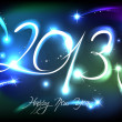 New Years banner for 2013 with back light — Stock Vector
