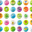 Vector de stock : Eco badges