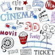 Stock Vector: Cinema Doodles