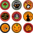 Halloween banners or drink coasters. — Stock Vector #32871761