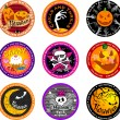 Halloween banners or drink coasters. — Stock Vector