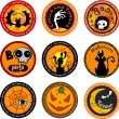 Halloween banners or drink coasters. — Stock Vector #32871807