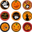 Halloween banners or drink coasters. — Stock Vector #32871815