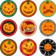 Stock Vector: Halloween banners or drink coasters.