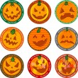 Halloween banners or drink coasters. — Stock Vector #32871823
