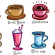 Types of coffee — Stock Vector
