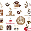 Coffee and Tea icons — Stock Vector