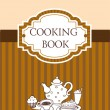 Cooking book cover — Stock Vector