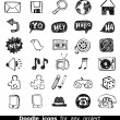 Doodle web icons — Stockvectorbeeld